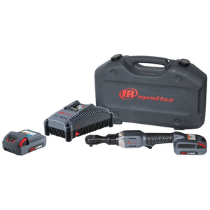 "INGERSOLL RAND 1/2"" 20V Cordless Ratchet Wrench with Charger and (2) 20V Li-ion 2.5 Ah Batteries IRTR3150-K22 - G and G Tools"