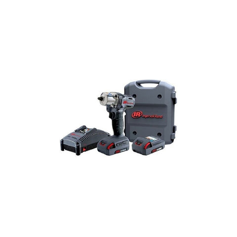 Ingersoll Rand 20V 3/8 in. Drive Cordless Impact Kit with Charger and (2) BL2010 20V li-ion 2.5 Ah batteries IRW5130-K22