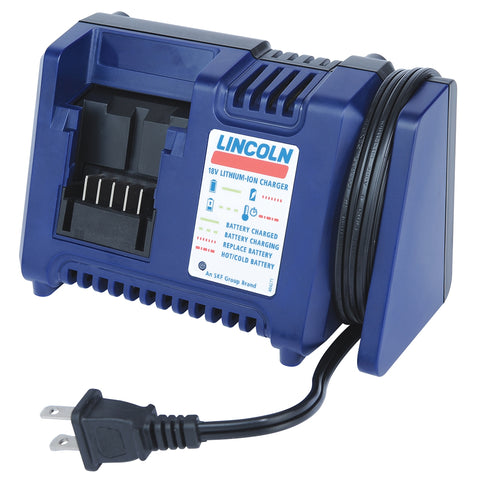 LINCOLN LUBRICATION 18 Volt Lithium Ion Battery Charger LIN1850
