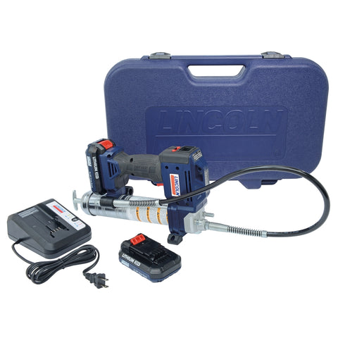 LINCOLN LUBRICATION 20-Volt Lithium Ion Powerluber Kit (Dual Battery) LIN1884