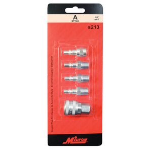 MILTON INDUSTRIES Coupler Kit 5 Piece A Style MILS213