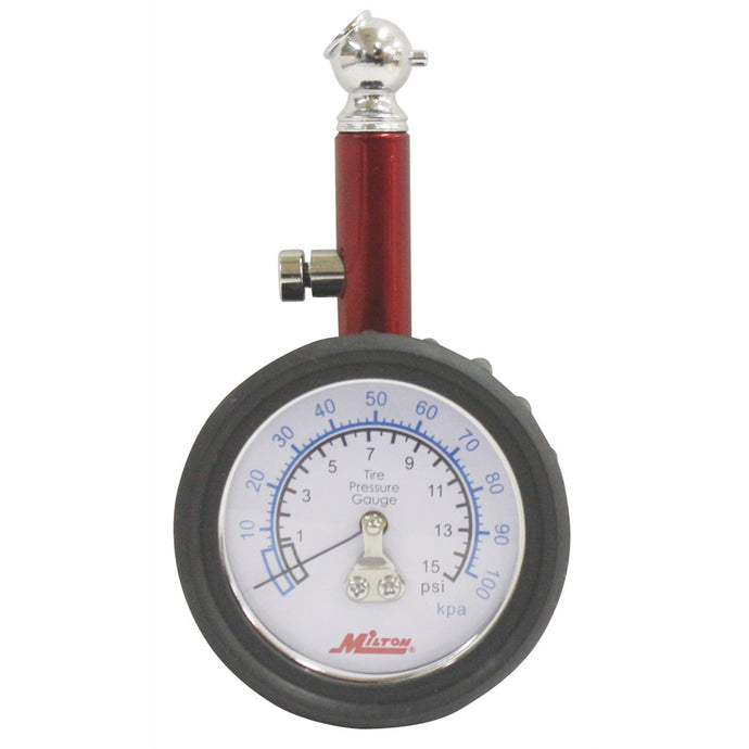 MILTON INDUSTRIES Dial Tire Gauge 0-15 Psi 1/2 Lb Increments MILS931