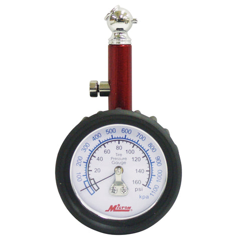 MILTON INDUSTRIES Dial Tire Gauge, 0-160 Psi - 5 Lb Increments MILS933