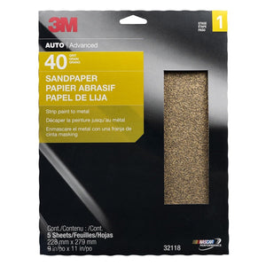 "3M Production Paper Sheets 9""X 11"" 40D 5/Pk 10Pks/Cs MMM32118 - G and G Tools"