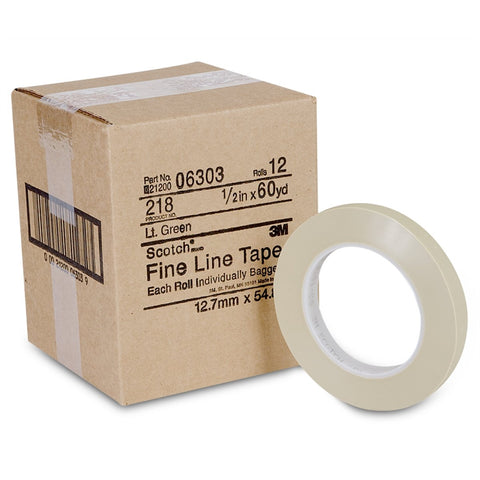 "3M Line Tape Fine Scotch 1/2"" X 60Yds 1Ea MMM6303"