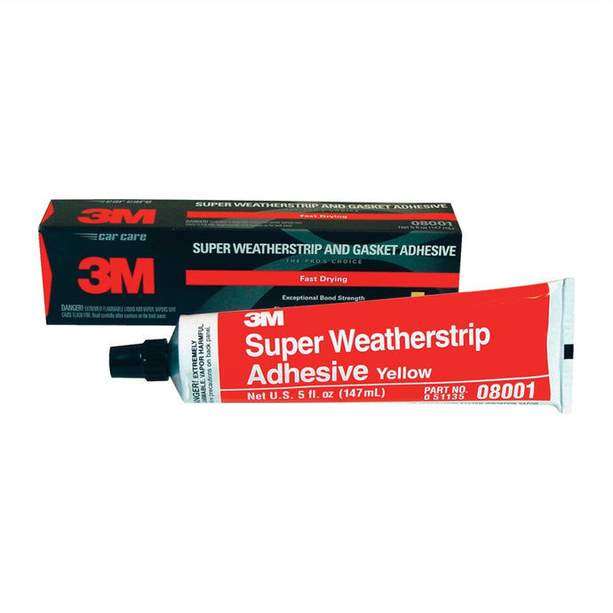 3M Weather Adhesive 5Oz Tube Yellow MMM8001 - G and G Tools