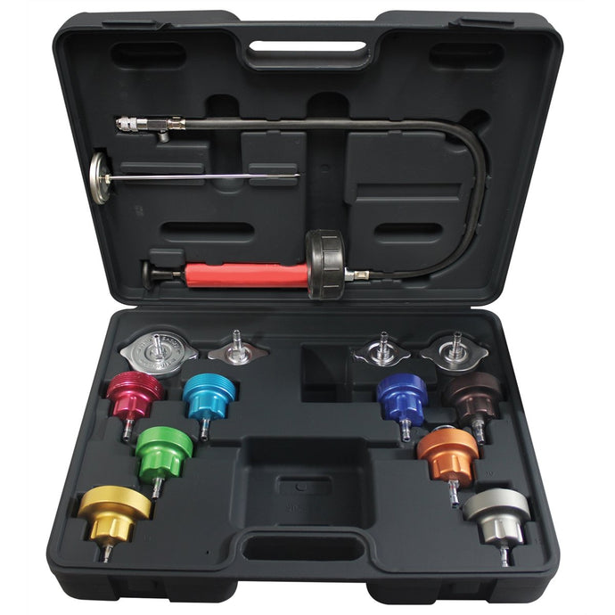 MASTERCOOL 14 Piece Universal Cooling System Pressure Test Kit MSC43300 - G and G Tools