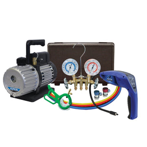 MASTERCOOL A/C Kit with Pump, Leak Detector and Gauge Set MSC90062-A-KIT