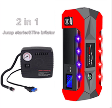 Load image into Gallery viewer, 12v Jump Starter 1000amp / 20000mAh multi-function / power bank with high power LED flashlight & air compressor - G and G Tools
