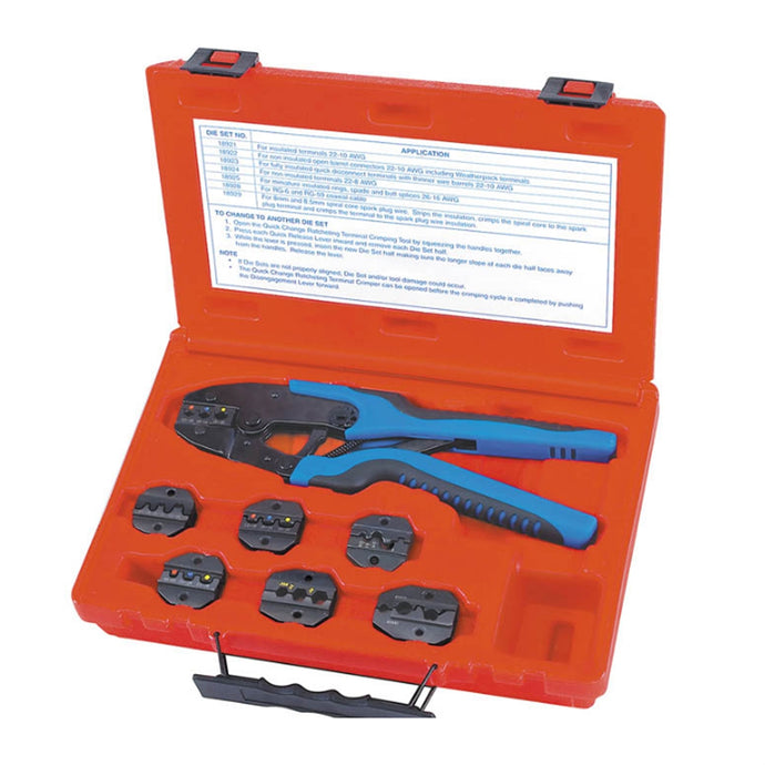SG TOOL AID Quick Change Ratcheting Terminal Crimping Kit SGT18960
