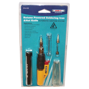 SOLDER-IT Auto Ign Butane Solder Iron/Ho SOIES-610K