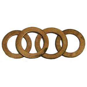 "S.U.R. AND R AUTO PARTS 3/8"" Copper Washer 10Pk SRRBRC127"