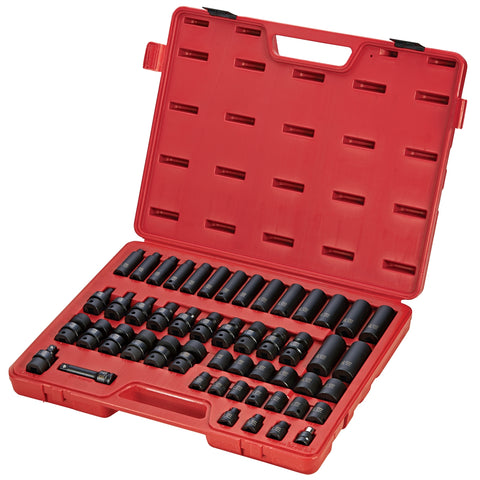 "SUNEX 3/8"" Dr. 51Pc Metric Impact Socket Set SUN3351"
