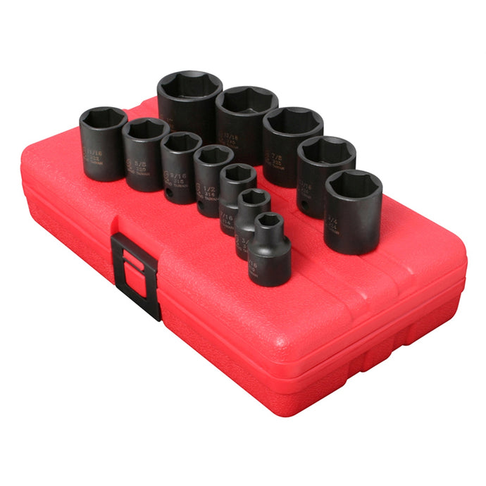 SUNEX Socket Set Impact 3/8In. Drive 12 Pc Std Sae SUN3360