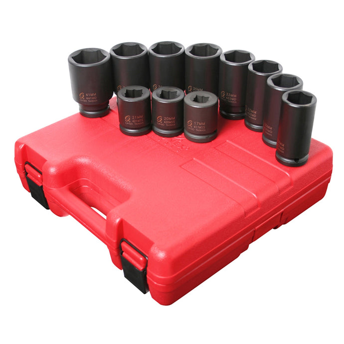 SUNEX Socket Set Impact 3/4