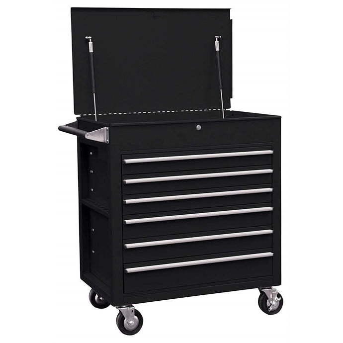 Sunex Tools 6-Drawer Full-Drawer Professional Cart, Black SU8057BK - G and G Tools
