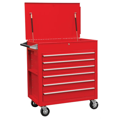 Sunex Tools 6 Full-Drawer Professional Cart, Red SU8057 - G and G Tools