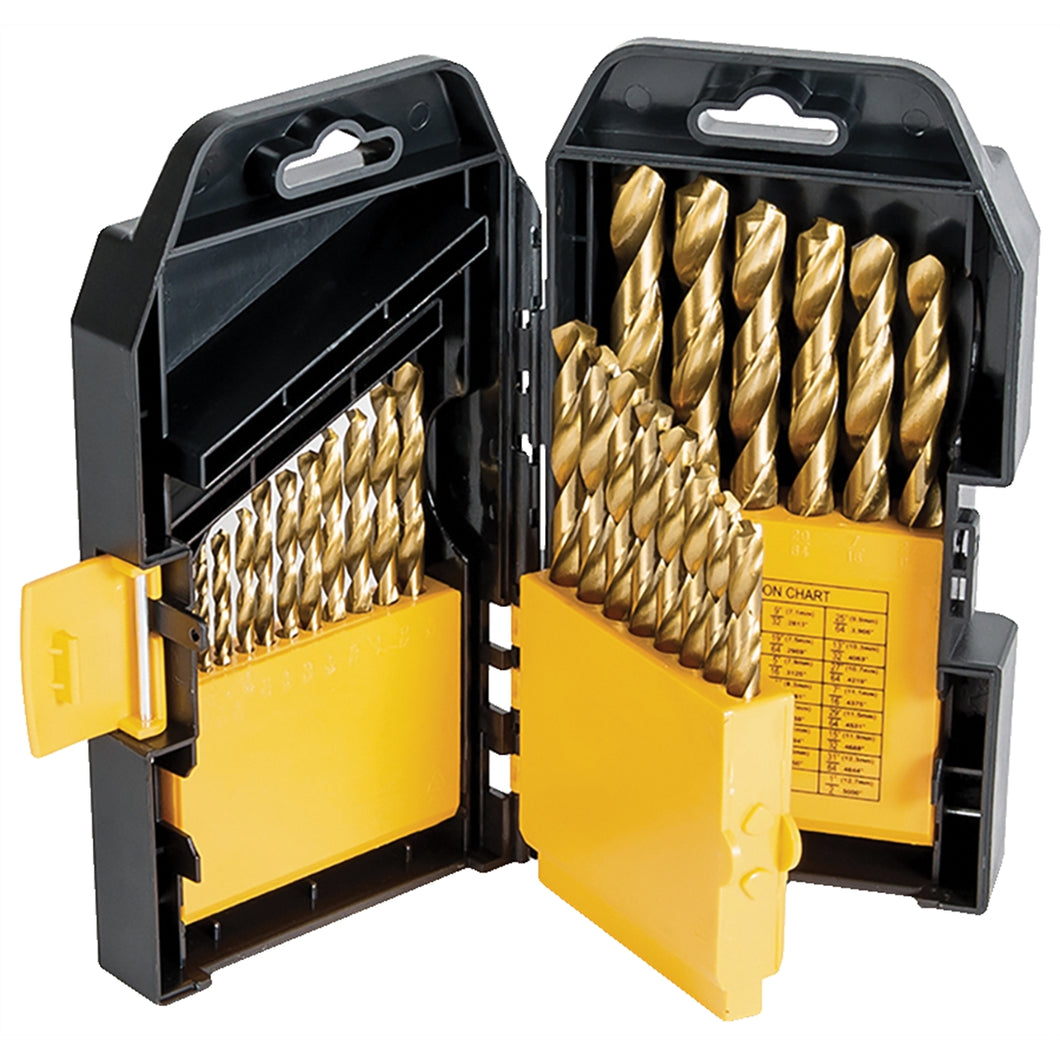 TITAN 29 Pc Titanium Coated Drill Bit Set TIT16530