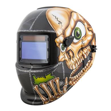 TITAN Auto Darkening Solar Powered Welding Helmet-Skull TIT41279