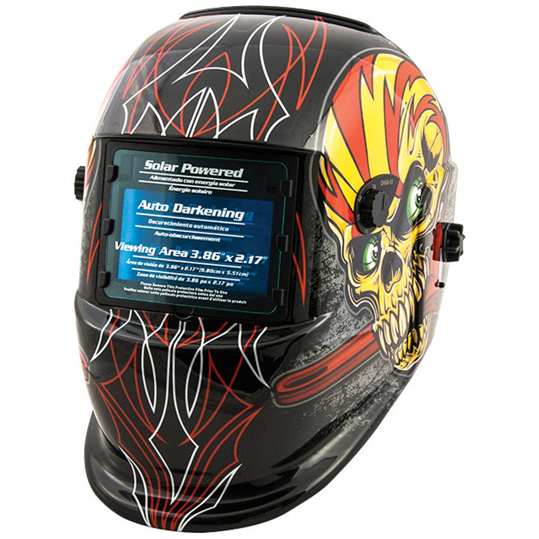 TITAN Auto Darkening Welding Helmet - Skull & Pipewrench TIT41283