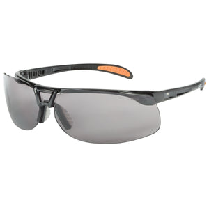UVEX Protege Safety Eyewear Black Frame Grey Lens UVXS4201