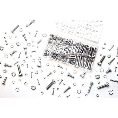WILMAR 240 Pc Zinc Nut & Bolt Hardware Kit WLMW5334