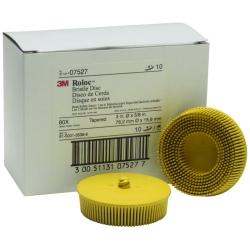"3M COMPANY 3"" Scotch-Briteâ Rolocâ Bristle Discs 80 Grit Medium Yellow MM07527"