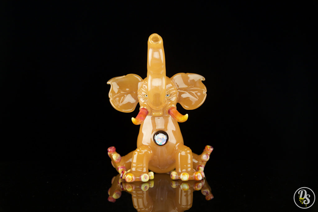 Domino Glass Peach Elephant