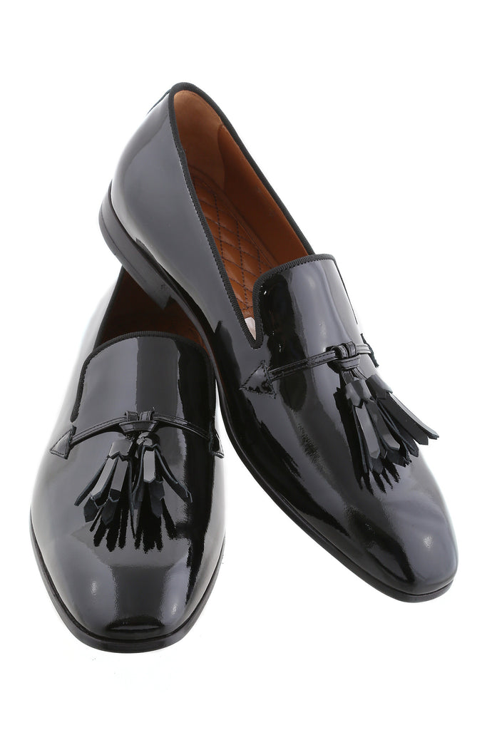 Patent Black Angelo Tassel Loafers
