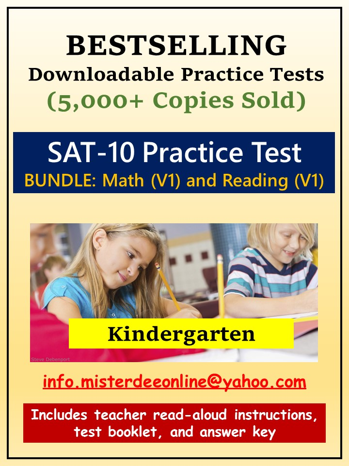 BUNDLE: Test/Assessment Resources for Kindergarten (Mathematics and Reading-Version 1)