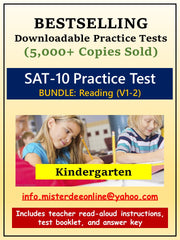 BUNDLE: Test/Assessment Resources for Kindergarten (Reading-Versions 1 and 2)