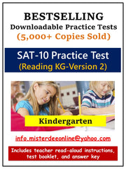 Test/Assessment Resource for Kindergarten (Reading-Version 2)