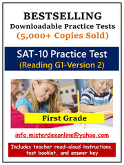 BUNDLE: Test/Assessment Resources for First Grade (Mathematics and Reading-Version 2)