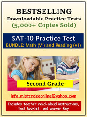 BUNDLE: Test/Assessment Resources for Second Grade (Mathematics and Reading)