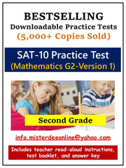 BUNDLE: Test/Assessment Resources for Second Grade (Mathematics, Reading, Language, Environment)