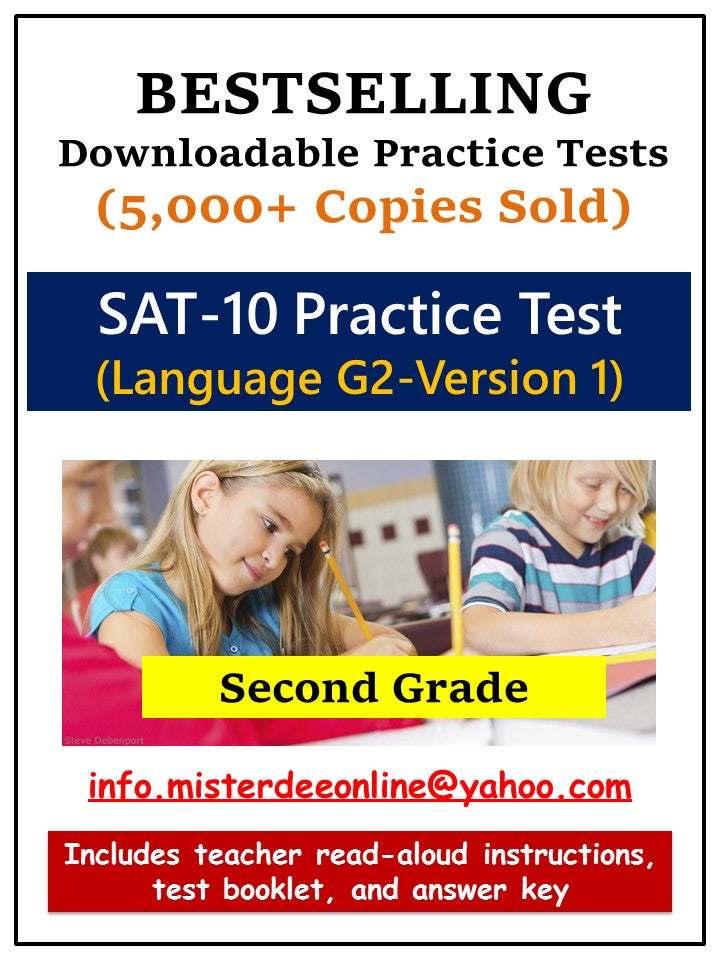 Test/Assessment Resource for Second Grade (Language-Version 1)