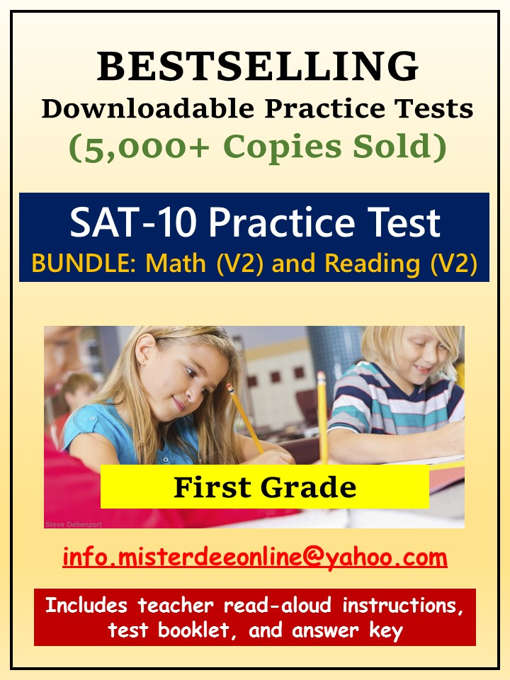 BUNDLE; Tests/Assessment Resources for KG (Mathematics and Reading-Versions 1 and 2)