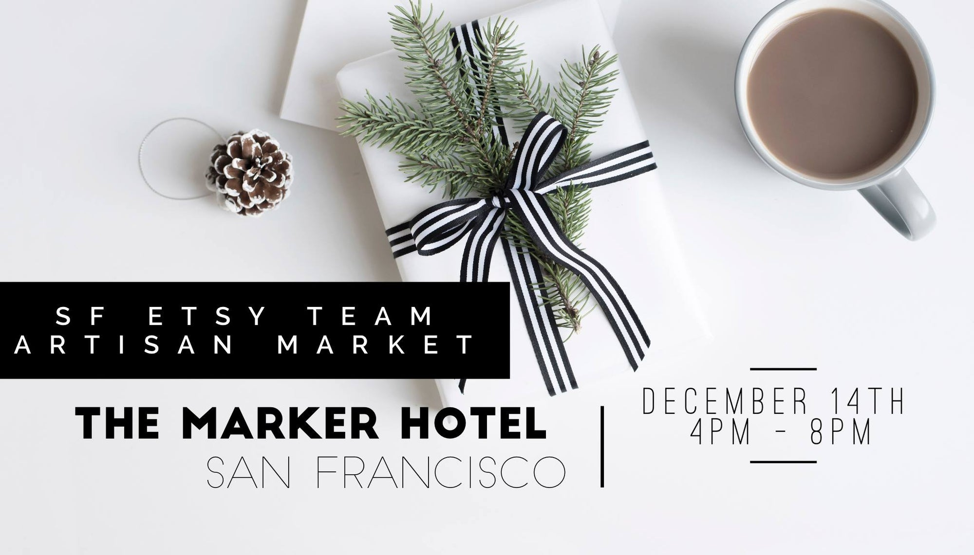 We're going to The Marker and Tratto Host SF Etsy Pop-up Event on December 14th Shop Local, Handmade Gifts by SF Etsy Artists This Holiday Season