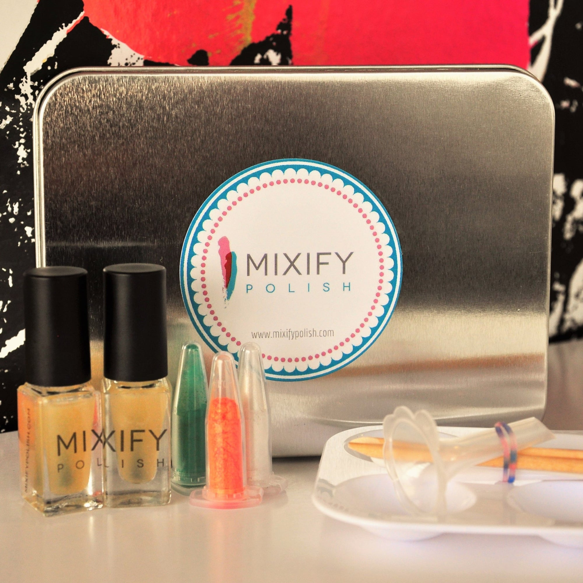 Mixify Polish Gifts Innovative Create Your Signature Nail Polish DIY Mini Kit to Celebrities and Press at GBK's Pre-MTV Movie Awards Celebrity Gift Lounge