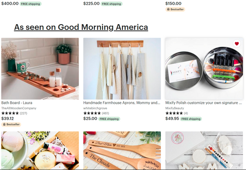 MIXIFY BEAUTY AND ETSY, EDITORS' PICKS  Spotted in the media See what goods are making editors from top media outlets do double takes