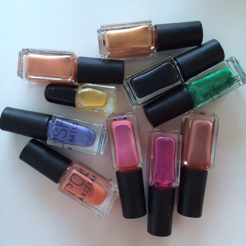 POLISH Artisan Nails create your own nail polish color sample bottles