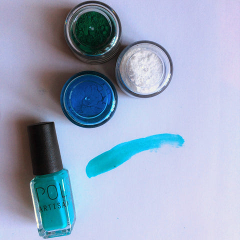 Create the perfect turquoise nail polish with POLISH Artisan Nails create your own nail polish kit