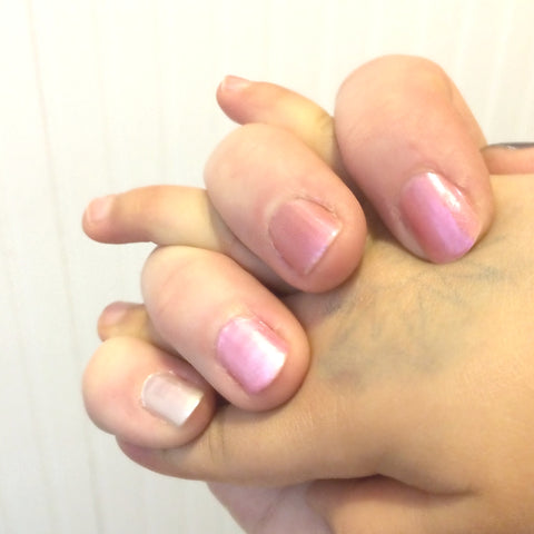 Valentine is pink with POLISH Artisan Nails