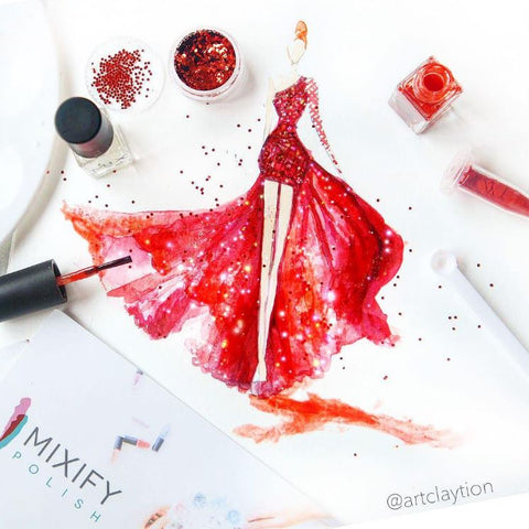 Mixify Polish fashion illustration @artclaytion