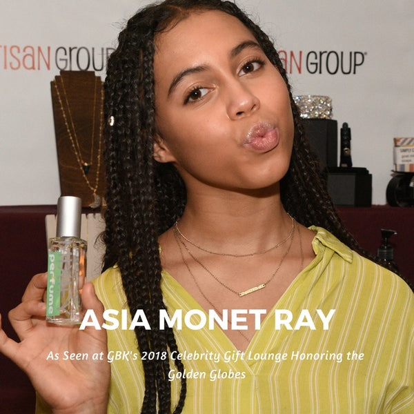 Asia Monet Ray #GreysAnatomy Mixify Beauty DIY Perfume GBK's 2018 Celebrity Gift Lounge Honoring the Golden Globes