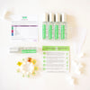 Mixify Beauty DIY perfume kit components - unscented base in spray bottles, dropper bottle fragrance