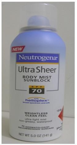 Neutrogena Ultra Sheer Body Mist 70 141G