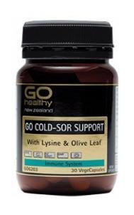Go Healthy Cold Sore Support 30Vcaps