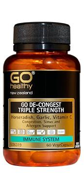 Go Healthy De-congest Triple Strength 60 Vege Capsules