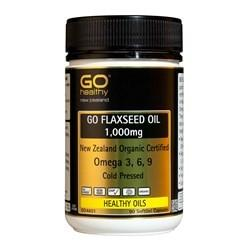 Go Healthy Flaxseed Oil Organic 1000mg 90caps